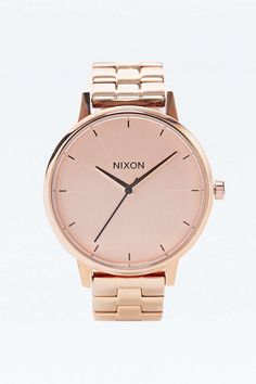 Nixon - Montre Kensington couleur or rose - Urban Outfitters