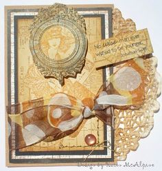 Dreaming and Creating: Shabby Chic Vintage Birthday Card