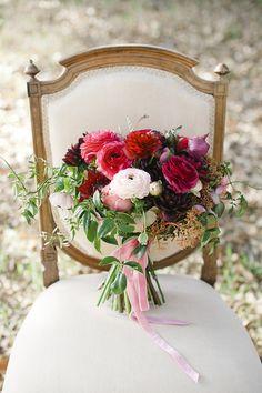 Vibrant berry red #bouquet   Photography: Eliza & Elizabeth - elizaandelizabeth.com  Read More: http://www.stylemepretty.com/little-black-book-blog/2014/05/08/dreamy-poem-wedding-inspiration/