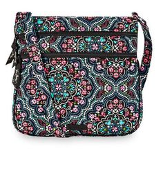 Vera Bradley Disney park Triple Zip Hipster Mickey and Minnie Mouse Medallion #VB #crossbody