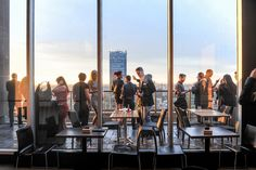 Photo Credit: eatertainment.com.  The One Eighty 55 Bloor Street W  Sit down at The One Eighty in the heart of the city for a breathtaking view from the patio. The unique experience has you dining on the 51 st floor of the Manulife Centre at the corner of Bay and Bloor.