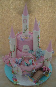 my little pony, castle cake