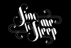 Typography work / 2011 by Marcos Calamato, via Behance