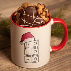 Tasse Weihnachten: Chemie ist langweilig? Stimmt gar nicht. Mit dem Periodensystem lassen sich viele lustige Dinge basteln – Zum Beispiel eine Botschaft vom Weihnachtsmann. http://www.t-shirt-mit-druck.de/weihnachten-geschenkideen-zum-selbst-gestalten.htm