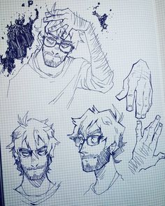 "6,190 Likes, 29 Comments - Dav Kro (@krooked.glasses) on Instagram: ""Oh yeah. Here's a page of Matthew doodles from last night. . . You can support me on Ko-fi!…"""