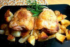 Cosciotti di Pollo con le Patatine al Forno