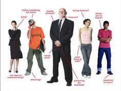 non-verbal communication posture