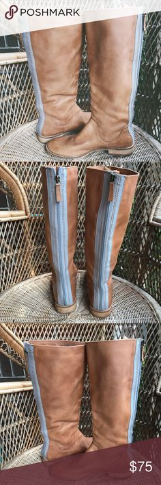 """Splendid Tall Leather Riding Boots Back Zipper Gorgeous! In excellent condition. Size 7.5M. Lined on the inside for extra warmth. The boot is just shy of 16"""" tall. 1"""" heel. Measures 10.5"""" across the sole. Splendid Shoes Winter & Rain Boots"""