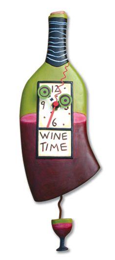 Wine Time Alarm Clock #wine