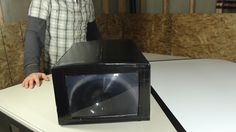 "How to Make a DIY Home Theater Projector and 50"" Screen for Only $5 MacGyverisms"