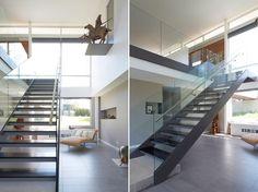 Escalier design métal et verre. #escalier #moderne