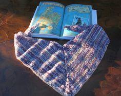 #knit #triangular #scarf #shawl #kid #girl #boy
