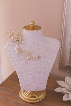 Beautiful way to showcase your jewelry on your special day!