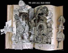 Alice in wonderland altered book Print by Raidersofthelostart