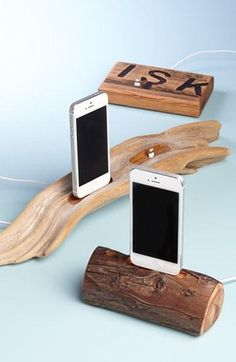 Etsy & Nordstrom present: Dock Artisan Repurposed Oak Whiskey Barrel iPhone 5 Dock