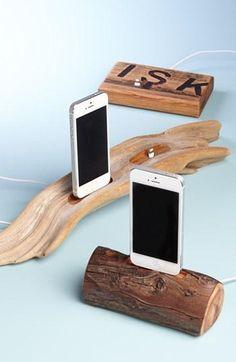 Etsy & Nordstrom present: Dock Artisan Repurposed Oak Whiskey Barrel iPhone 5 Dock