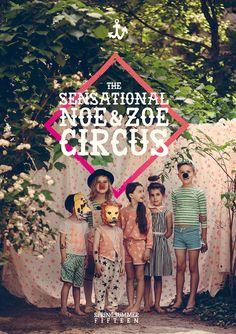 Noe Zoe is een merk uit Berlijn met kinderkleding. Met een lichte basis, vallen de toffe kleuraccenten extra op. En ss15 staat in het teken van circus!