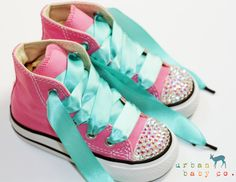 Infant Toddler Baby Girl High Top Pink Converse by shopurbanbabyco