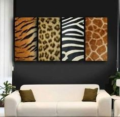 wall decorations with animal prints
