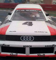 Poderoso el aspecto de este #Audi90Quattro de #Scalextric