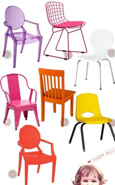 Round up of mini-chairs. #nunapinparty #modernfamilyhome