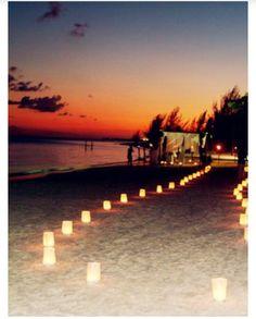 Beach wedding & aisle ideas