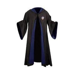 Harry Potter Ravenclaw School Robe (38.740 HUF) ❤ liked on Polyvore featuring intimates, robes, harry potter, hogwarts, ravenclaw, outerwear, hooded robe, blue robe and blue hooded robe