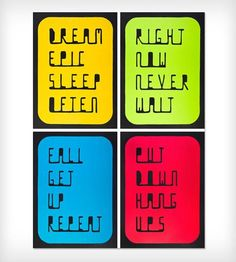 Classic Rectangle, Set of 4 Prints by Multi Polar Projects on Scoutmob Shoppe