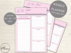 A4, A5 & US Size To Do List - Printable To-do List, Printable Blog Planner, Weekly to-do, Daily to do, Printable to-do list #101