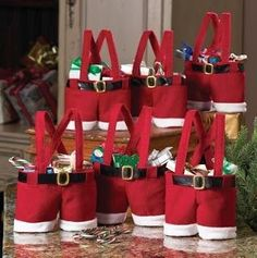 Homecube® Large Size Christmas Candy Bag Wine Holders Santa Pants Gift and Treat Bags with Handle Portable Candy Gift Baskets Gift Wrap for Wedding, Pack of 6 x > Save this wonderfull product : Christmas Decorations Christmas Candy Gifts, Christmas Bags, Christmas Wedding, Christmas Stockings, Christmas Holidays, Father Christmas, Christmas Ideas, Merry Christmas, Holiday Gifts