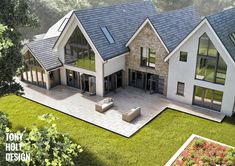 House designs exterior - CGarchitect Professional Architectural Visualization User Community Property Redevelopment in Bournemouth, UK Italian Farmhouse, Modern Farmhouse Exterior, Modern Bungalow Exterior, Dream Home Design, Modern House Design, Rendered Houses, Dream House Exterior, House Extensions, House Goals