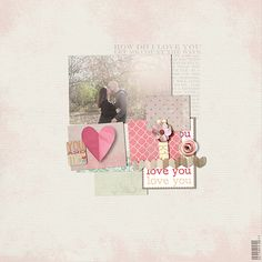 1 photo + squares + stamps--- this is just so sweet!