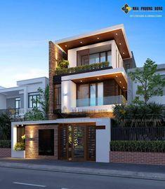 House Front Elevation Designs In Tamilnadu Minimalist House Design, Minimalist Home, Modern House Design, Modern House Styles, Modern Zen House, Modern Tropical House, Front Elevation Designs, House Elevation, Chalet Modern