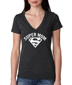 Super Mom V-Neck, Birthday shirt, Mom Shirt, Vintage Age,,Birthday T-Shirt Idea, rad shirts, instagram fashion funny tops,