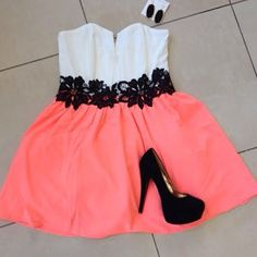 Maybe a longer skirt not to long or to short Pink Fashion, Teen Fashion, Fashion Beauty, Fashion Outfits, Womens Fashion, Fashion Trends, Dress Outfits, Cute Outfits, The Dress