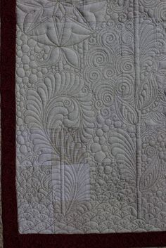 Finishing Lines by K. Sperino: neutral confusion love the randomness Long Arm Quilting Machine, Machine Quilting Patterns, Longarm Quilting, Free Motion Quilting, Quilt Patterns, Spiral Quilting, Hand Quilting, Quilting Tutorials, Quilting Ideas
