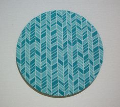 Herringbone Mouse Pad mousepad / Mat - Rectangle or round - chevron turquoise blue chic / cute / preppy / fabric / patterned designed / coasters, lanyards, key fobs, reels, / computer mouse pads sets ideal for cubical, office, home decor / multi-patterned gifts for coworkers, students, teachers, medical, family, graduations, holidays / create your special coordinated designs