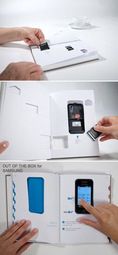 Interaction design, Cell phone manual made simple, Clever design, User-friendly, Vitamins Studio