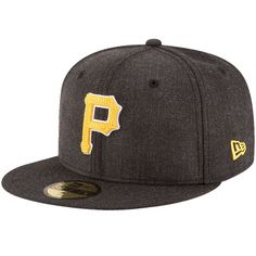 Pittsburgh Pirates New Era Crisp 59FIFTY Fitted Hat - Heathered Black