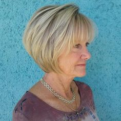 Blonde Layered Jaw-Length Bob