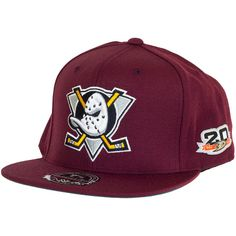 Mitchell & Ness NHL Fitted Cap Mighty Ducks burgundy ★★★★★