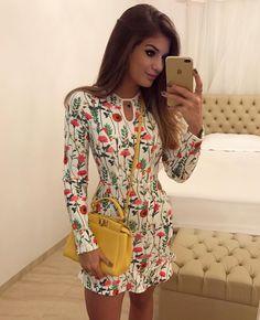 """12.6 mil Me gusta, 74 comentarios - Blog Trend Alert (@arianecanovas) en Instagram: """"{Flores by @m.aclothes } Vestido bem delicadinho da coleção nova marca!  Apaixonada pela estampa…"""""""