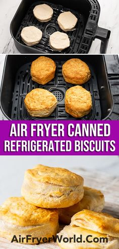 Air Fryer Oven Recipes, Air Frier Recipes, Air Fryer Dinner Recipes, Air Fryer Cooking Times, Cooks Air Fryer, Air Fried Food, Canned Biscuits, Air Fryer Healthy, Biscuit Recipe