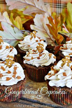 Gingerbread Cupcakes - Lady Behind The Curtain