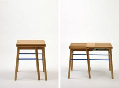 A Stool That Expands to Seat Two - Design Milk