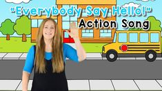 Hello Song for Children   Morning Meetings  Action Song  Preschool   Kin... Kindergarten Music Lessons, Preschool Kindergarten, Kids Songs With Actions, Action Songs, Morning Meetings, Group Boards, Reading Resources, Say Hello, Singing