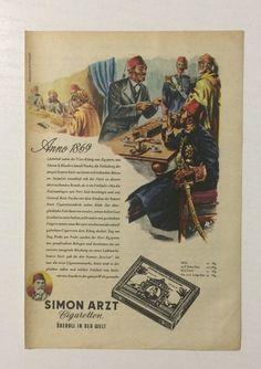 Werbung ca A5: Simon Arzt Zigaretten von 1953 (26091441)