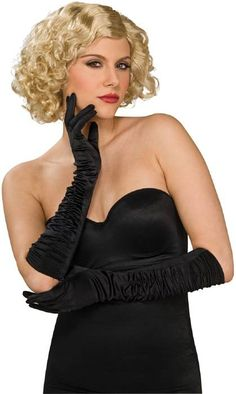Add a touch of glamour to any look with these gorgeous black stretch satin gloves. The lustrous satin elbow length gloves feature stylish ruching from the wrist to the elbow. Made of stretchy polyester/lycra fabric. Apple Costume, Star Costume, Stretch Satin, Plus Size Lingerie, Vintage Glamour, Costume Accessories, Black Satin, Charleston, Elsa