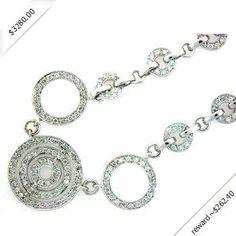 14k WHITE GOLD WOMEN'S NECKLACE LN-3145 DIAMOND 1.5CT TW