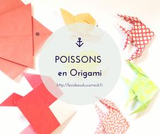 différents poissons origami - different origami fishes Mobil Origami, Origami Mobile, Origami Fish, Poisson D'avril Origami, Kirigami, Diy For Kids, Diagram, Activities, Creative